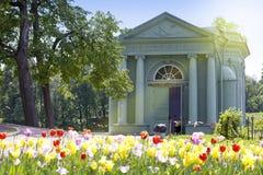 金星亭子在公园, 1793年Gatchina彼得斯堡 俄国 图库摄影