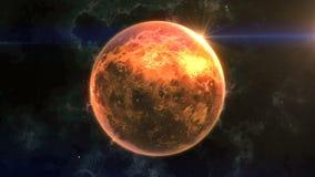金星在空间显露 影视素材