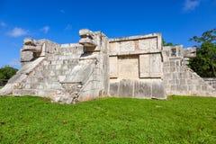金星平台在奇琴伊察,墨西哥伟大的广场  免版税库存照片