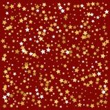 金星形 五彩纸屑庆祝,落的金黄摘要 库存图片