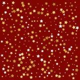 金星形 五彩纸屑庆祝 节日装饰 向量 库存图片