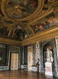 金星沙龙、大理石墙壁和雕象在凡尔赛宫,法国 库存图片