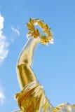 金月桂树花圈,胜利概念 库存图片