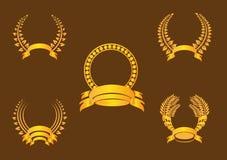 金月桂树花圈 库存图片