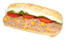 金枪鱼和甜玉米三明治 免版税库存图片