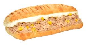 金枪鱼和甜玉米三明治 图库摄影