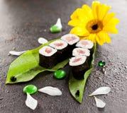 金枪鱼寿司卷 图库摄影