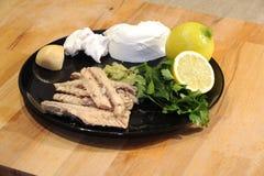 金枪鱼的开胃菜 库存照片