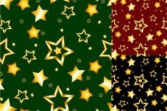 金模式无缝的星形 库存照片