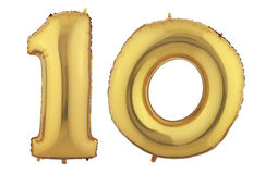 金气球十 库存图片