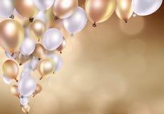 金气球 免版税图库摄影