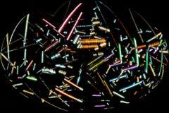 金氯化物水晶五颜六色的抽象卵形微写器  图库摄影