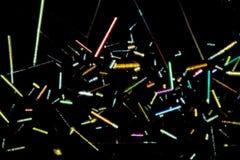 金氯化物水晶五颜六色的抽象微写器  免版税库存图片