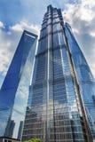 金泖塔三个摩天大楼Liujiashui上海中国 库存照片