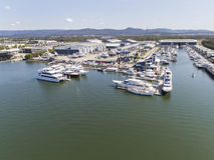 黄金海岸市政府小游艇船坞Coomera 免版税库存图片