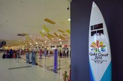 黄金海岸机场国际机场 免版税库存图片