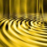 金液体波纹 库存图片