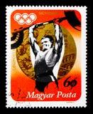 金牌获得者伊姆雷Foldi,夏季奥运会1972年,慕尼黑serie, ci 免版税图库摄影