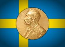 金牌诺贝尔奖,对多角形的图表阐述 库存例证