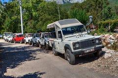 金牛座山吉普徒步旅行队在安塔利亚,土耳其 库存图片