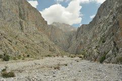 金牛座山 火鸡 峭壁和峡谷 加盖的峰顶雪 免版税图库摄影