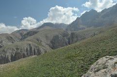 金牛座山 火鸡 峭壁和峡谷 雪 库存图片