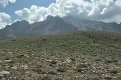 金牛座山 火鸡 峭壁和峡谷 雪 库存照片