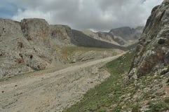 金牛座山 火鸡 峭壁 加盖的峰顶雪 库存照片