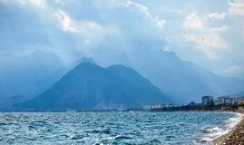 金牛座岩石山自然风景  免版税图库摄影