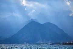 金牛座岩石山自然风景  库存图片