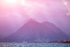 金牛座岩石山自然风景  库存照片