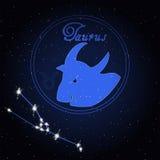 金牛座黄道带的占星术星座 库存图片