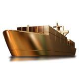金玩具大船的例证 库存照片