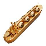 金玩具大船的例证 免版税库存照片