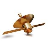 金玩具航天器循轨道运行的例证 图库摄影