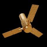 金玩具航天器循轨道运行的例证 库存图片