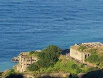 金瓜石13废墟,新的台北,台湾 免版税库存照片