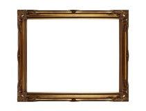 金画框 免版税库存照片