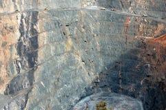 金矿开采的卡车 免版税库存照片
