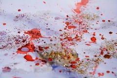 金红色斑点构造,给五颜六色的冬天背景打蜡 图库摄影