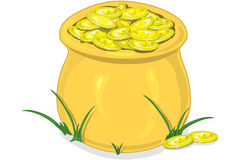 金罐 向量例证