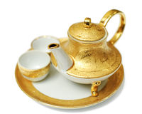 金茶壶 库存照片