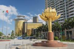金莲花广场在澳门,中国 免版税库存图片