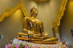 金菩萨雕象,曼谷,泰国 库存照片