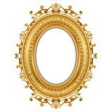 金葡萄酒框架的例证 库存照片
