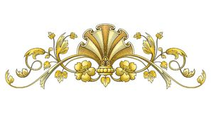 金葡萄酒装饰品 免版税库存图片