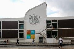 金融危机在里约热内卢影响公共业务 免版税库存照片