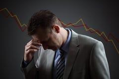 金融危机 免版税库存照片
