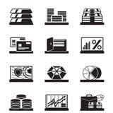 金融性资产、价值和操作 免版税库存照片