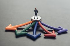 金融投资选择,商业决策的c顾问 图库摄影
